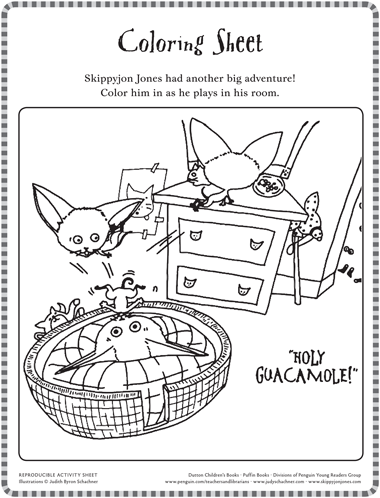 Skippyjon Jones Class Action Coloring Pages